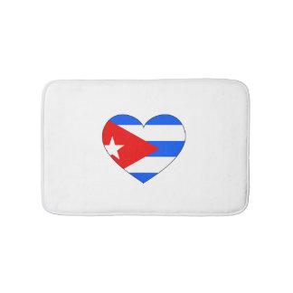 Cuba Flag Heart Bath Mat