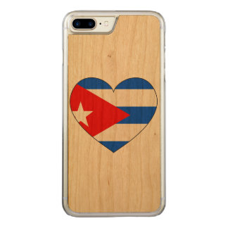Cuba Flag Heart Carved iPhone 8 Plus/7 Plus Case