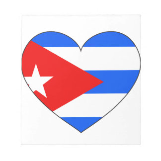 Cuba Flag Heart Notepad