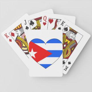 Cuba Flag Heart Playing Cards