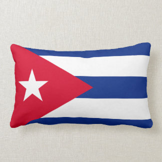 Cuba Flag Lumbar Pillow