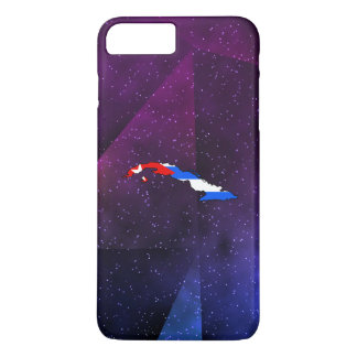 cuba Flag Map on abstract space background iPhone 8 Plus/7 Plus Case