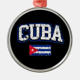 Cuba Flag Metal Ornament