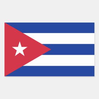 Cuba Flag Rectangular Sticker
