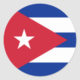 Cuba Flag Round Stickers