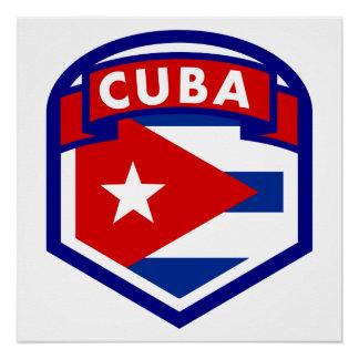 Cuba Flag Shield Poster