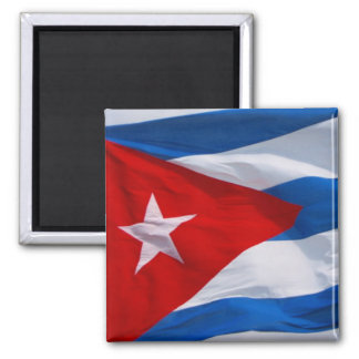 cuba flag square magnet