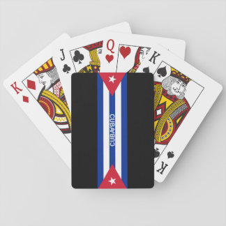 Cuba flags and text poker deck