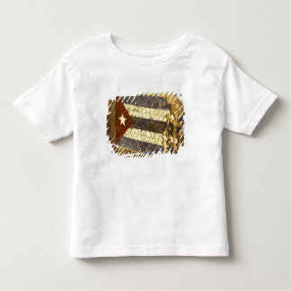 CUBA, Havana. Mosaic puzzle of the cuban flag in Toddler T-Shirt