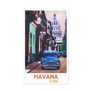 Cuba Havana Retro Style Canvas Print
