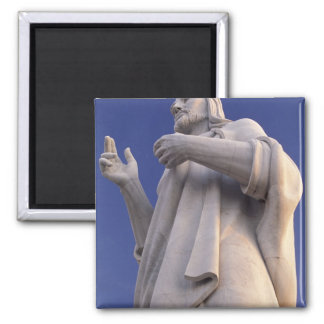 Cuba, Havana, Sculpture of Jesus. Square Magnet