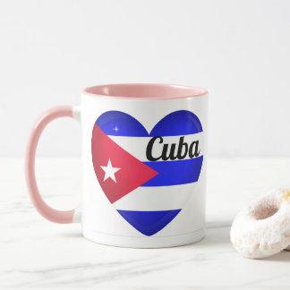 Cuba Heart Flag Mug