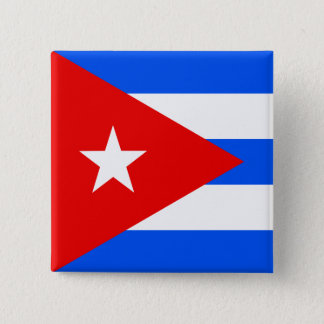 Cuba High quality Flag 15 Cm Square Badge