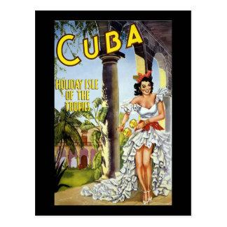 Cuba Holiday Isle Of The Tropics Post Card