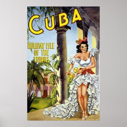 Cuba Holiday Isle Of The Tropics Print