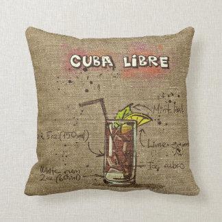 Cuba Libre/Caipirinha Recipe Cushion