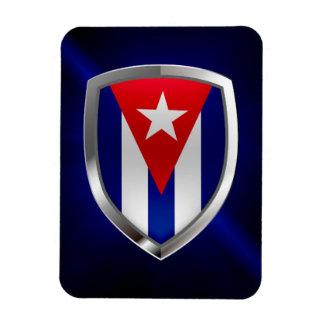 Cuba Mettalic Emblem Magnet