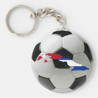 Cuba national team basic round button key ring