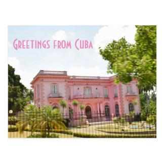 Cuba Pink Mansion Postcard