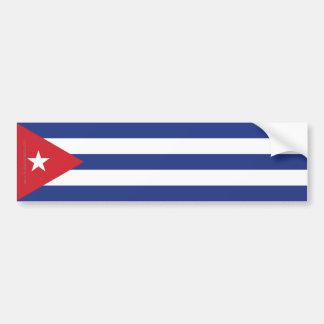 Cuba Plain Flag Bumper Sticker