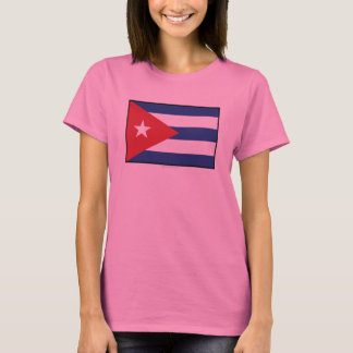 Cuba Plain Flag T-Shirt