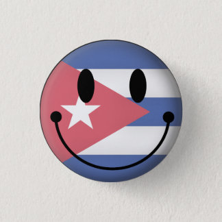 Cuba Smiley 3 Cm Round Badge