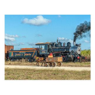 Cuba. Sugar plantation traffic. Postcard