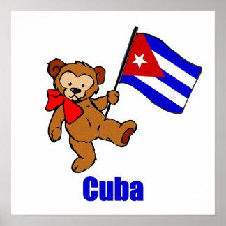 Cuba Teddy Bear Poster