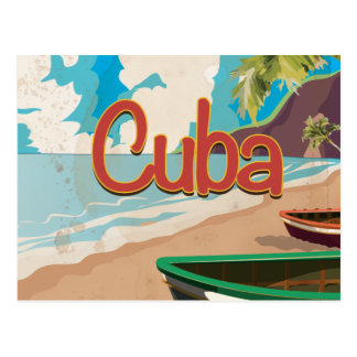 Cuba Vintage Travel Poster Postcard
