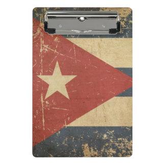 Cuban Aged Flat Flag Mini Clipboard