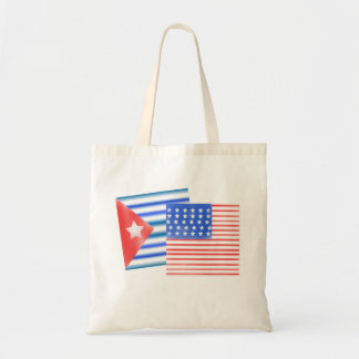 Cuban American Flags Budget Tote Bag
