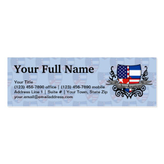 Cuban-American Shield Flag Pack Of Skinny Business Cards