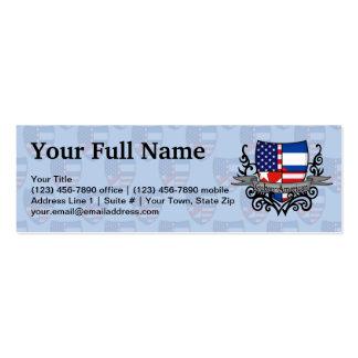 Cuban-American Shield Flag Business Cards