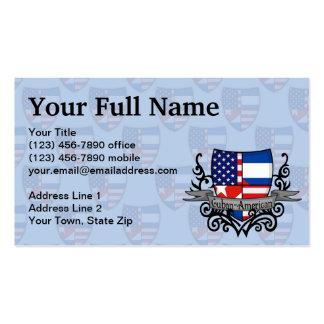 Cuban-American Shield Flag Business Card
