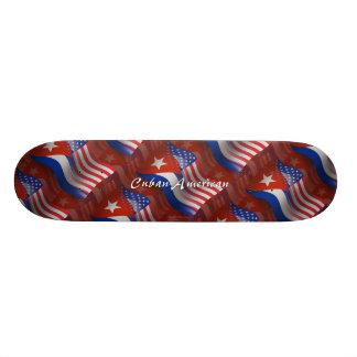 Cuban-American Waving Flag Custom Skateboard