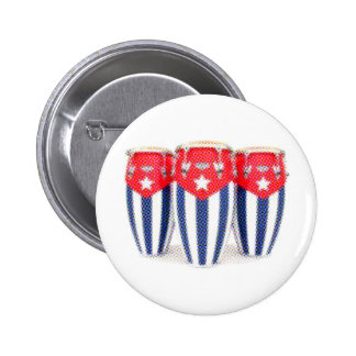 Cuban Congas 6 Cm Round Badge