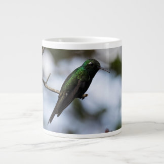 Cuban emerald hummingbird large coffee mug