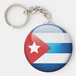 Cuban Flag 2.0 Basic Round Button Key Ring