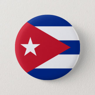 Cuban Flag - Bandera Cubana - Flag of Cuba 6 Cm Round Badge