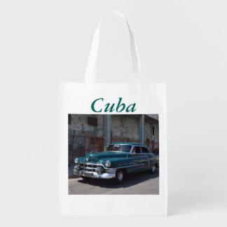 Cuban Flag Cuba Old Car