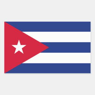 Cuban Flag Rectangular Sticker