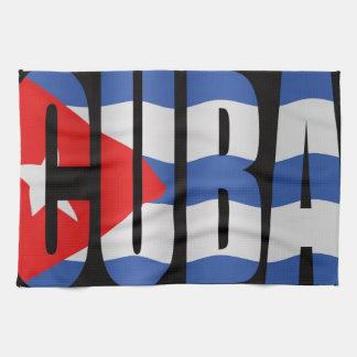 Cuban flag tea towel