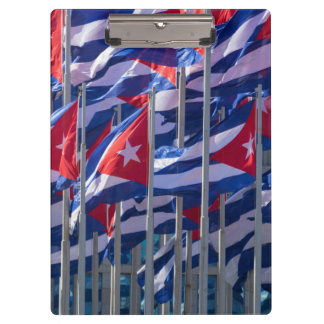Cuban flags, Havana, Cuba Clipboard