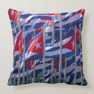 Cuban flags, Havana, Cuba Cushion