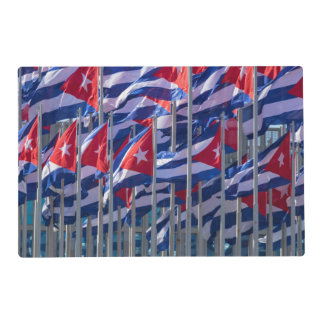 Cuban flags, Havana, Cuba Laminated Placemat