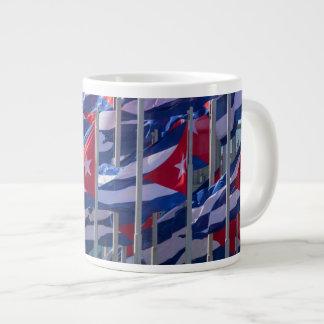 Cuban flags, Havana, Cuba Large Coffee Mug