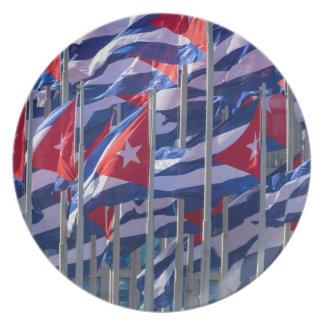 Cuban flags, Havana, Cuba Plate