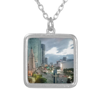 Cuban Freedom Tower in Miami 2 Silver Plated Necklace