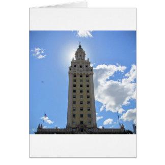 Cuban Freedom Tower in Miami Card