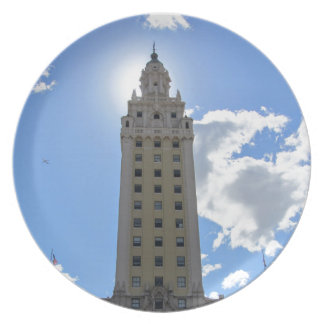 Cuban Freedom Tower in Miami Plate